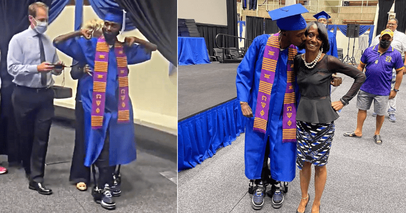 Paralyzed at 16, he was told he'd never walk again. 12 years later, he walked to get his diploma