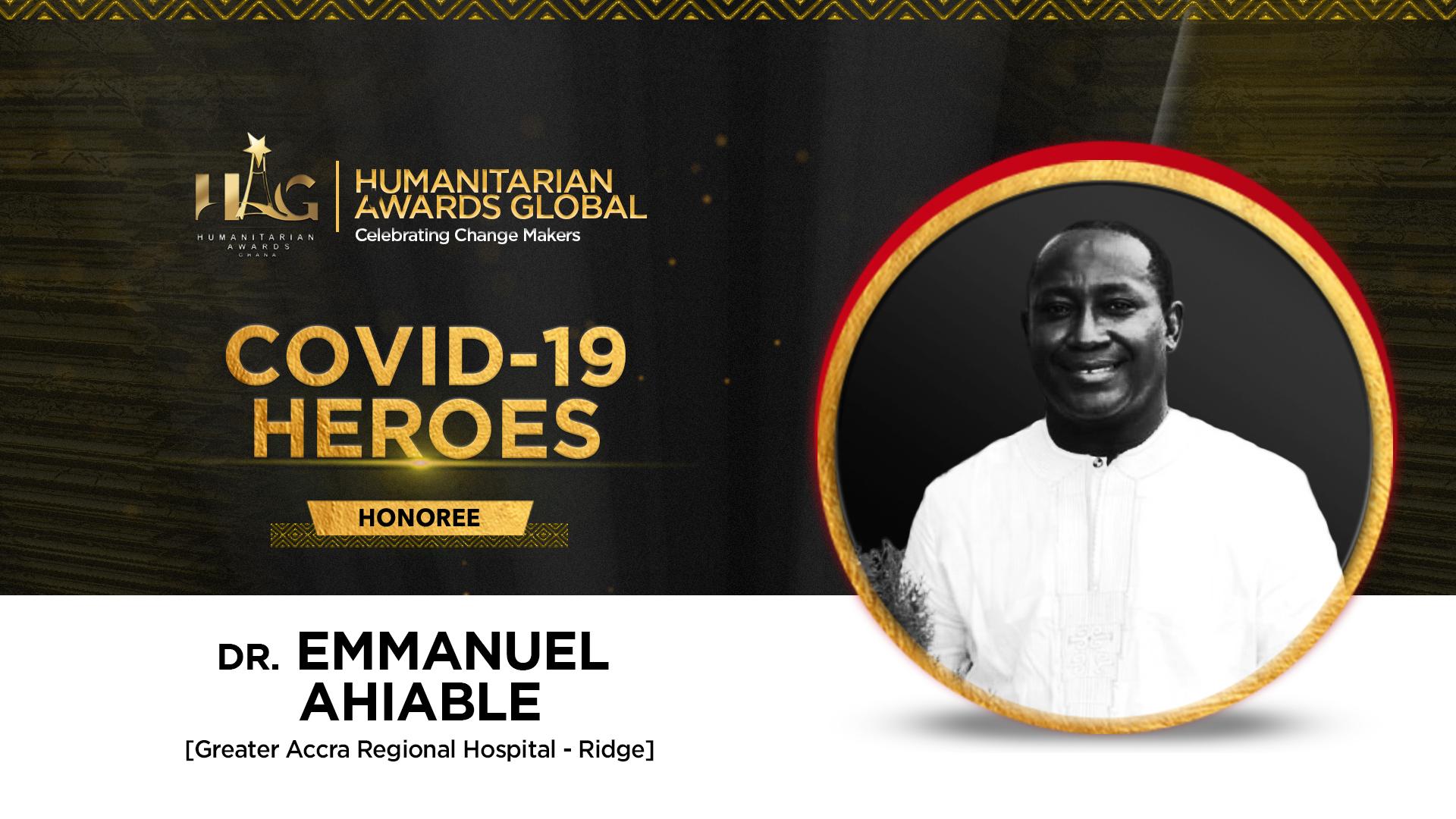 Dr. Emmanuel Kwadzo Ahiable of Ridge Hospital to be honoured by Humanitarian Awards Global