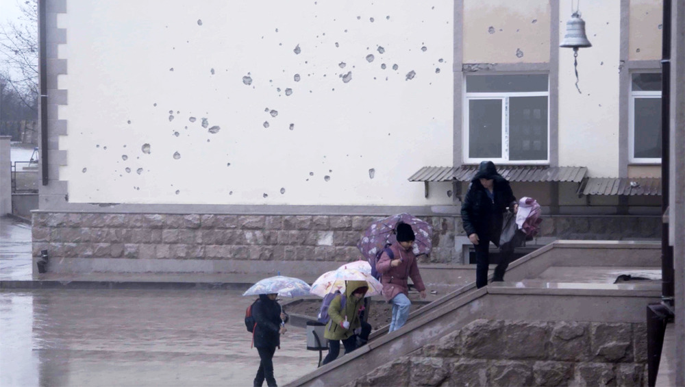 With our hearts beating fast': Back to school on the Nagorno-Karabakh front line