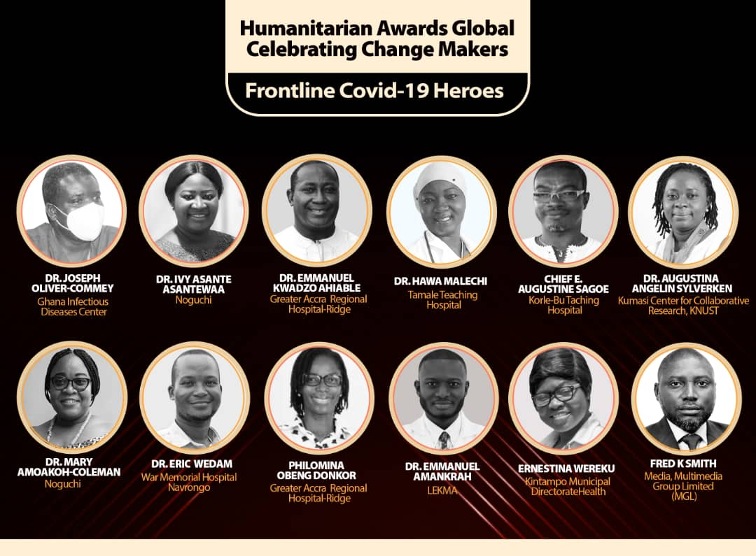 Covid 19 Heroes Honorees announced for 2021 Humanitarian Awards Global.