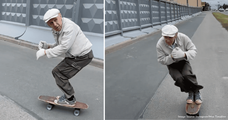 73-year-old who has been skateboarding since 1981 stuns the internet with incredible skills