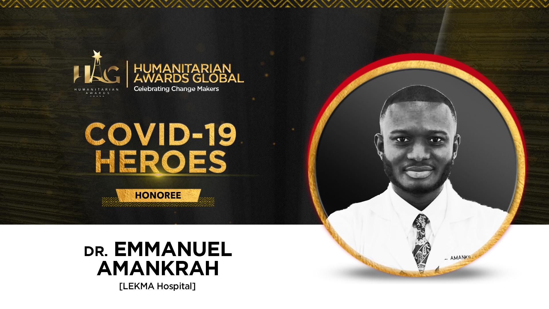 Dr Emmanuel Amankrah of LEKMA Hospital  to be honoured by Humanitarian Awards Global